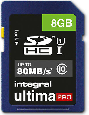 8GB Memory card for Ricoh WG-30 Wi-Fi Camera | Class 10 80MB/s SD SDHC New UK