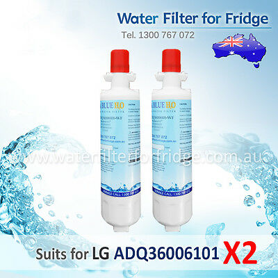 2 pack  LG REPLACEMENT FRIDGE WATER FILTER LT700P ADQ36006101 Free Shipping
