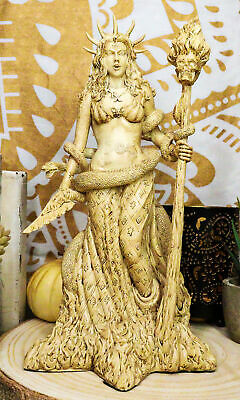 """10.5"""" Height Greek White Sorceress Witchcraft Hecate Figurine Hekate Pagan Wicca"""