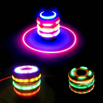Laser Color Flash Toy Music Gyro Peg-Top Spinner LED Light Spinning Toy For Kids