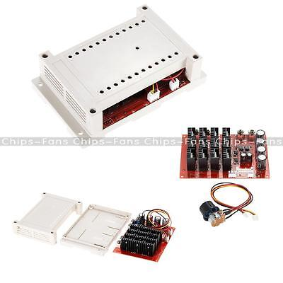 10~50V 60A 3000W 15KHz DC Motor Speed Control PWM HHO RC Controller With Case UK