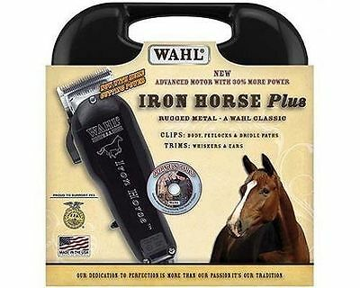 New Horse Grooming WAHL Iron Horse Plus Clippers w/Case and Accessories