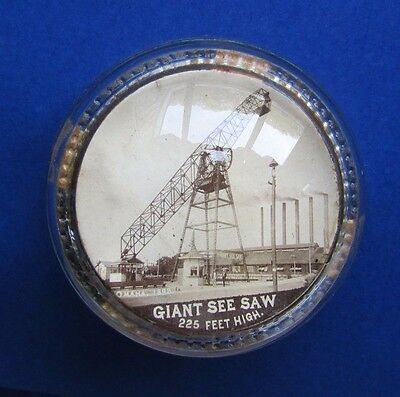 1898 Omaha Trans Mississippi Expo Paperweight Giant Seesaw Rinehart Real Photo