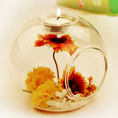 Glass Round Hanging Candle Tea Light Holder Candlestick Party Bar Home Decor #03