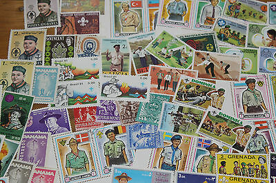 Bulk Lot Scouting Themed Stamps X 50  Good Mix Free Postage In Oz