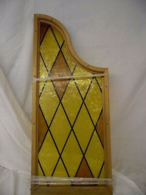 "Vintage Looking colored Glass Side Light window Wooden Glass Frame 16"" X 35"""