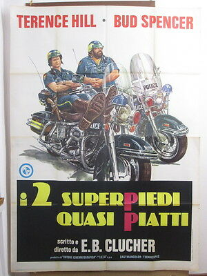 poster 4f-I 2 SUPERPIEDI QUASI PIATTI-HILL-SPENCER-COMMEDIA-S85149