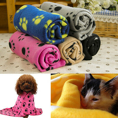 Warm Soft Cosy Fleece Pet Blanket For Car Sofa Beds Carriers Kennel Mat Throw