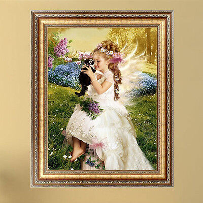 DIY 5D Diamond Pretty Girl Painting Embroidery Cross Stitch  Home Decor Crafts