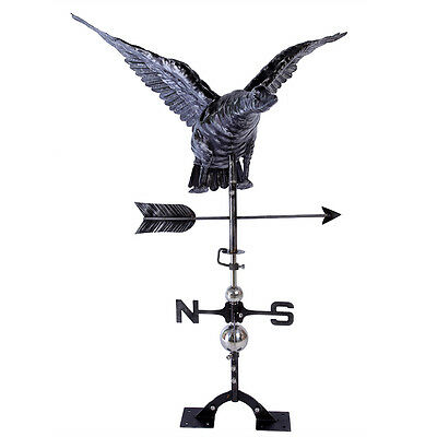 NEW MALLARD DUCK Weathervane AGED STAINLESS STEEL Handcrafted 3D FULL BODIED