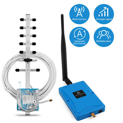 CA Stock 3G 4G LTE 1700MHz 70dB Cellular Signal Booster Repeater for Home Use