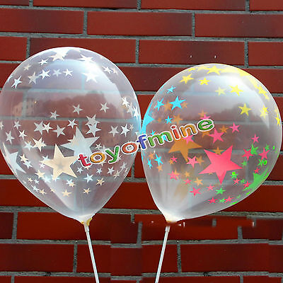 10/20/30/50PcsTransparent Latex Balloons BirthdayWedding Party Decor 12""
