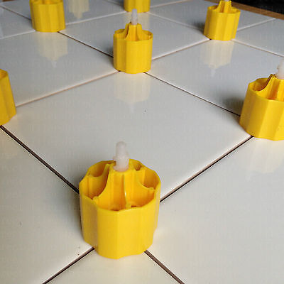 New Tile Leveling System 50 Caps+150 Spacers Cross Spacer Flooring Lippage Tools