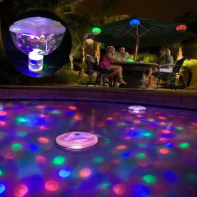 Floating Underwater 5 LED Disco Light Aqua Glow Show Swimming Pool Hot Tub Spa