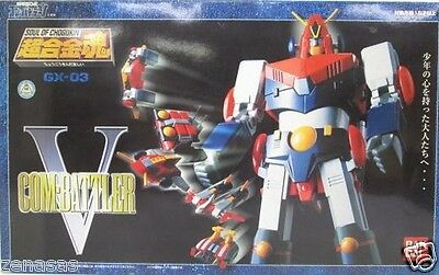 New Bandai Soul of Chogokin Chodenji Robo Combattler V GX-03 From Japan