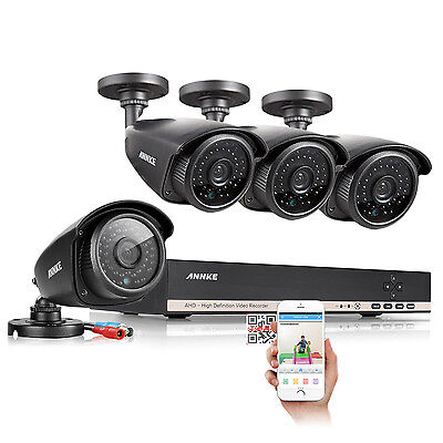 ANNKE 8CH 1080N AHD DVR 1080P NVR 1800TVL Surveillance Security Camera System IR