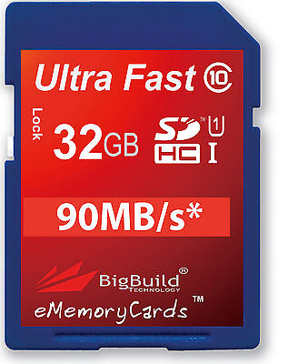 32GB Memory card for Ricoh WG-30 Wi-Fi Camera | Class 10 80MB/s SD SDHC New UK