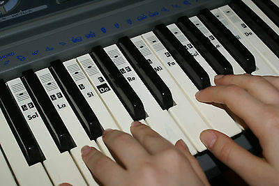 Piano Clavier Note Musique Autocollants Stickers Solfège
