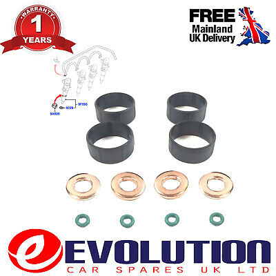 FORD FUEL INJECTOR SEAL + WASHER + ORING SET FOR FIESTA 1.4 TDCi 2001 ON