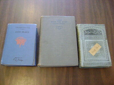 Thaddeus Of Warsaw, Shakespeare Five Plays, Gone With The Wind Lot Of 3 Books