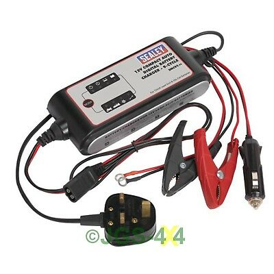 Sealey SMC02 Compact Auto Digital Battery Charger 9-Cycle 12V
