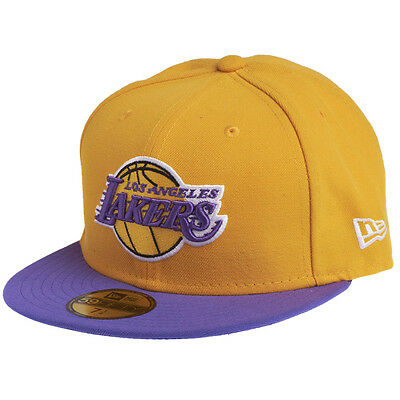 Los Angeles Lakers NBA Fitted Team Cap By New Era Size 7 1/4