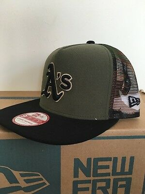 Oakland Athletics Meshed Camo Trucker New Era  Snapback Baseball Cap S - M