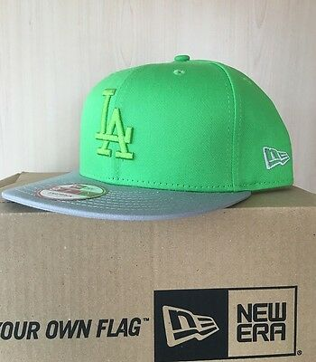 LA Dodgers New Era 9FIFTY Pop Tonal Adjustable Snapback Baseball Cap Lime S-M
