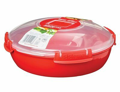 Sistema Microwave Plate, Round 1.3Litre, Red