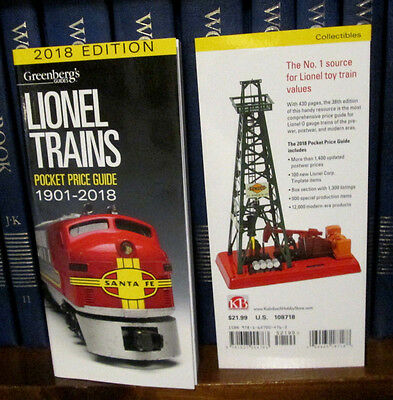 2018 Lionel Price Guide....latest Edition.... Price Each $15.49....mint!....z815