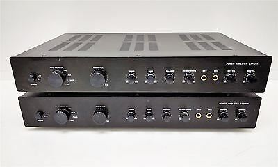2 x EDIS EA1128A - 50W Stereo Mixer Power Amplifier | Fully tested