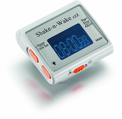 shake n wake silent vibrating alarm clock watch (and vibrate, deaf blind aid)