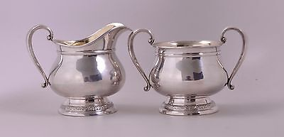 International Prelude Sterling Silver Cream and Open Sugar Set-No Mono