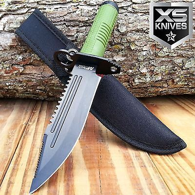 "11"" Tactical Bayonet Hunting Fixed Blade Combat Knife Army Bowie W/ Survival Kit"