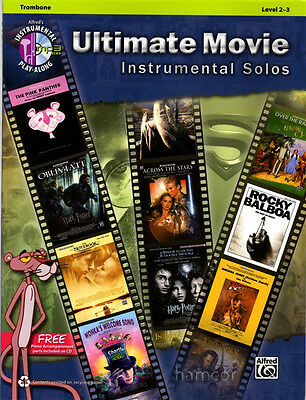 Ultimate Movie Instrumental Solos Trombone Sheet Music Book & Play-Along CD