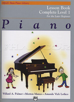 Alfred's Basic Piano Library Lesson Book Complete Level 1 Music Learn To Play