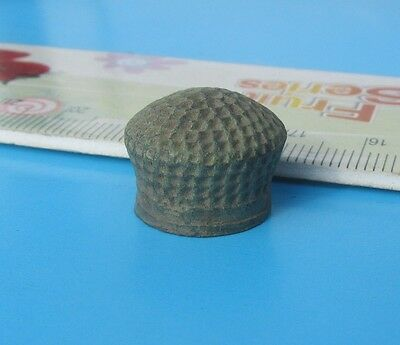 The old medieval bronze thimble!
