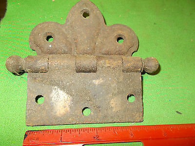 Vintage Antique Old Offset   Hinge Large 3 1/2  Inch Heavy Duty