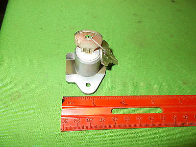 Vintage Unusual Corbin Cabinet Tool Box Cylinder Lock With 2 Keys Working