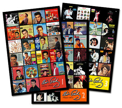 "ELVIS PRESLEY triple pack discography magnet lot (three 4.75"" x 3.75"" magnets)"