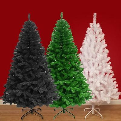 5ft/6ft/7ft Large Colorado Pine Tree Artificial Christmas Xmas Tips Metal Stand
