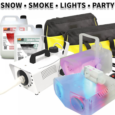 UKDJ Snow & Smoke Machine Package Inc LED Mushroom Lighting Effect + 2 Bags