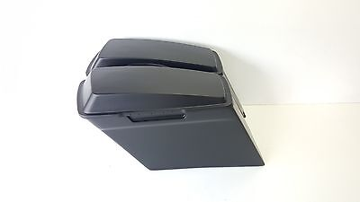 """Harley Davidson Stretched Saddlebags 4"""" Stock Lids Dual Exhaust Flh Touring"""