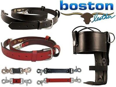 Boston Leather: Leather Combo Kit, Radio Strap, Holder and Anti-Sway Strap
