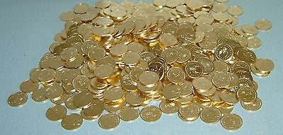 500 Slot Machine Tokens - Brand New Golden 1/2 Half Dollar $ Size - 30Mm