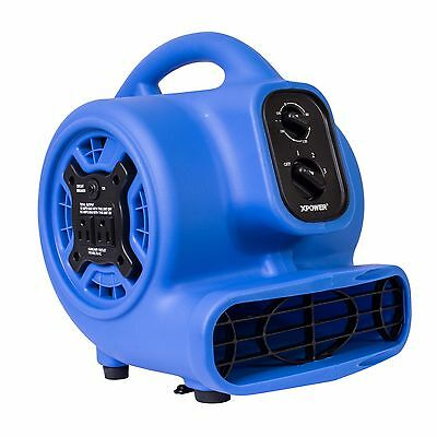 XPOWER P-230AT 1/5 HP Mini Air Mover Carpet Dryer Fan Blower - Purple Blue