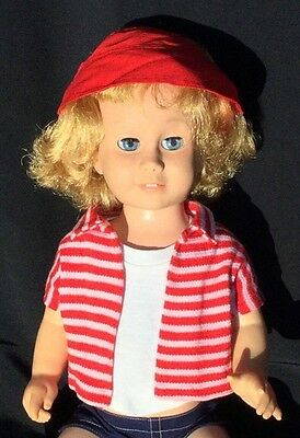 """Vintage Original 1960 Mattel """"CHATTY CATHY"""" Doll 20"""" & Playtime Outfit"""
