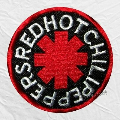 Red Hot Chili Peppers Embroidered Patch RHCP Logo Kiedis Flea Back Rock Band