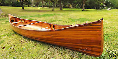 Cedar Strip Canoe Wooden Boat 16' No Ribs For Sale Woodenboat USA New