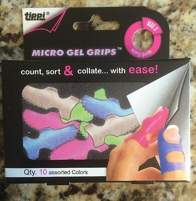 Lee Tippi Micro-Gel Fingertip Grips Size 3 X-Small Assorted 10/Pack 61030